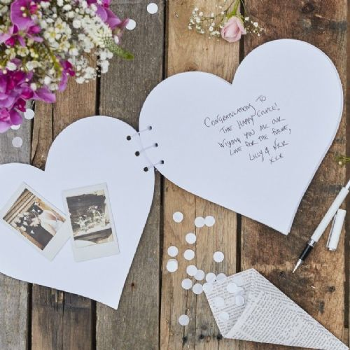 Rustic Country Heart Guestbook (each)